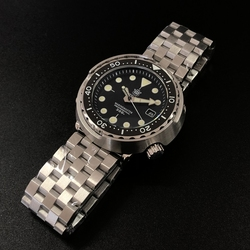 1975 Primer reloj de buceo de atún enlatado Super luminoso reloj automático para hombre reloj mecánico NH35 300M relojes de buceo cristal de zafiro