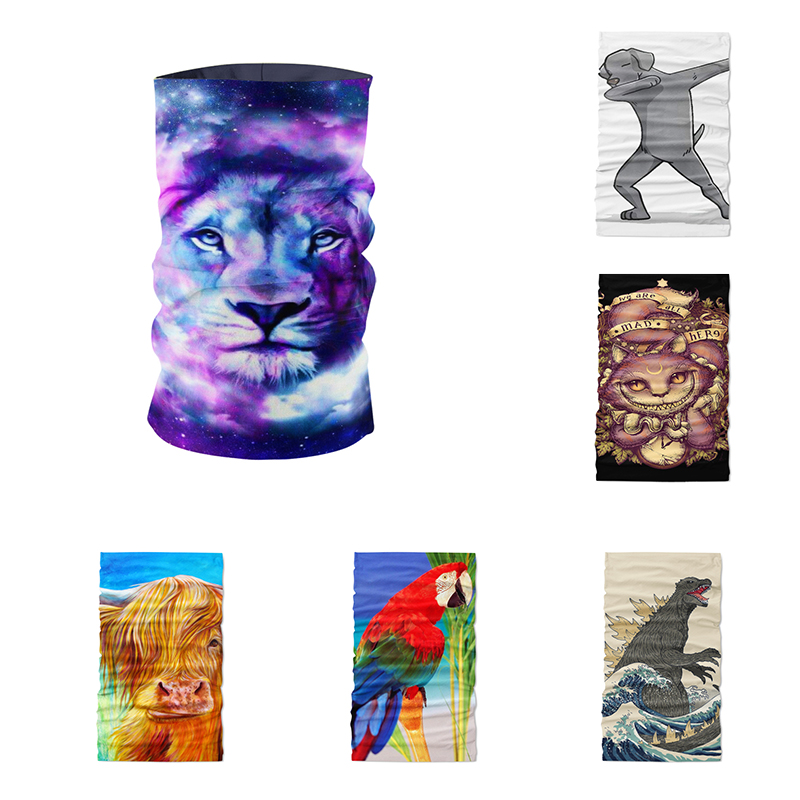 Novelty Tubular Seamless Magic Multi Functional Scarf Cycling Bandana Women Male Outdoor Sports Camouflage Designer Buffe
