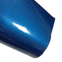 Filme de fibra de carbono para farol, brilho 5d, azul, liso, adesivos de fibra de carbono para carro, folha de adesivo, filme de vinil