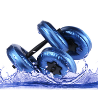 PVC Material Water-poured 10 kg Dumbbell Fitness Equipment for Gym Weights Training