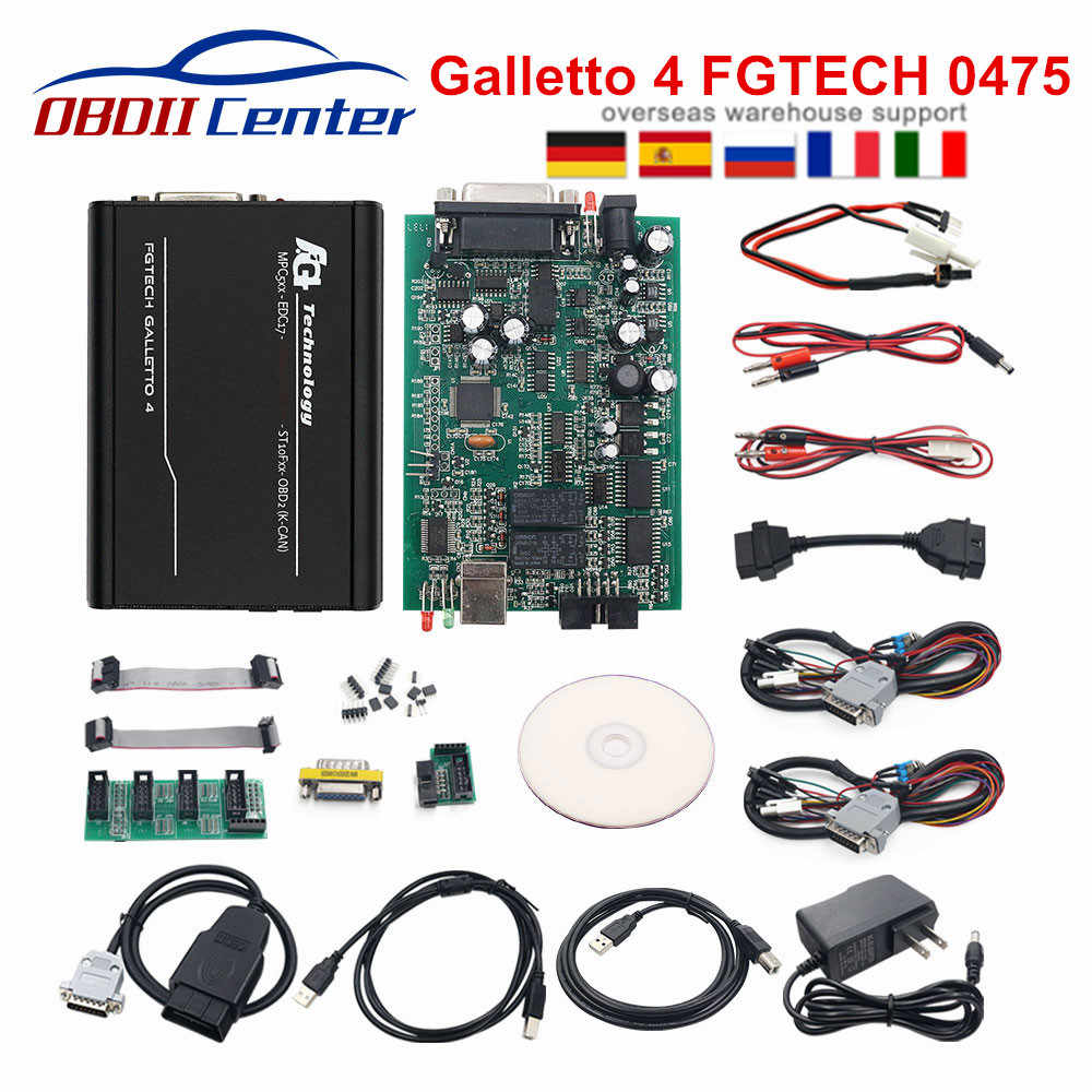 2019 Galletto 4 Master v54 Fgtech 0475 Fg-Tech 4 Galletto V54 Euro Master النسخة الإلكترونية FG Tech 0475 OBD2 OBDII ECU مبرمج