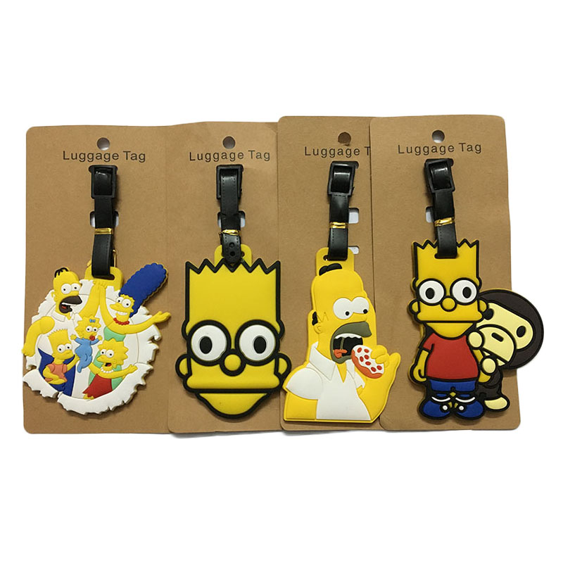 Travel Accessories Luggage Tag Cartoon Silica Gel Suitcase ID Addres Holder Baggage Boarding Tags Portable Label