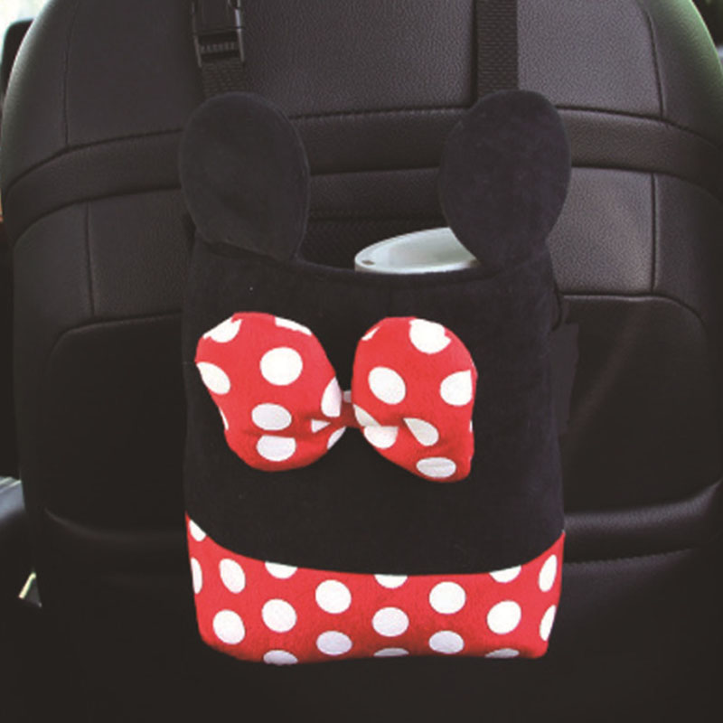 Car seat pocket cartoon plush car suspension Mickey Mouse