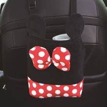 Car seat pocket cartoon plush pocket car suspension pocket Mickey Mouse pocket цены