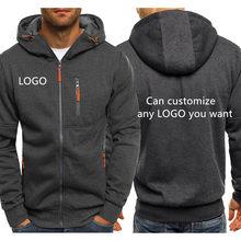 Jaqueta masculina hoodies logotipo personalizado carro anime impressão engraçado dos homens streetwear velo com zíper camisolas hip hop harajuku treino masculino