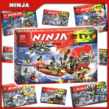 9types 2015 Ninja Movie Theme Destiny's Bounty Ghost Dragon New Model Building Block Children Toy Bricks Compatible With 1