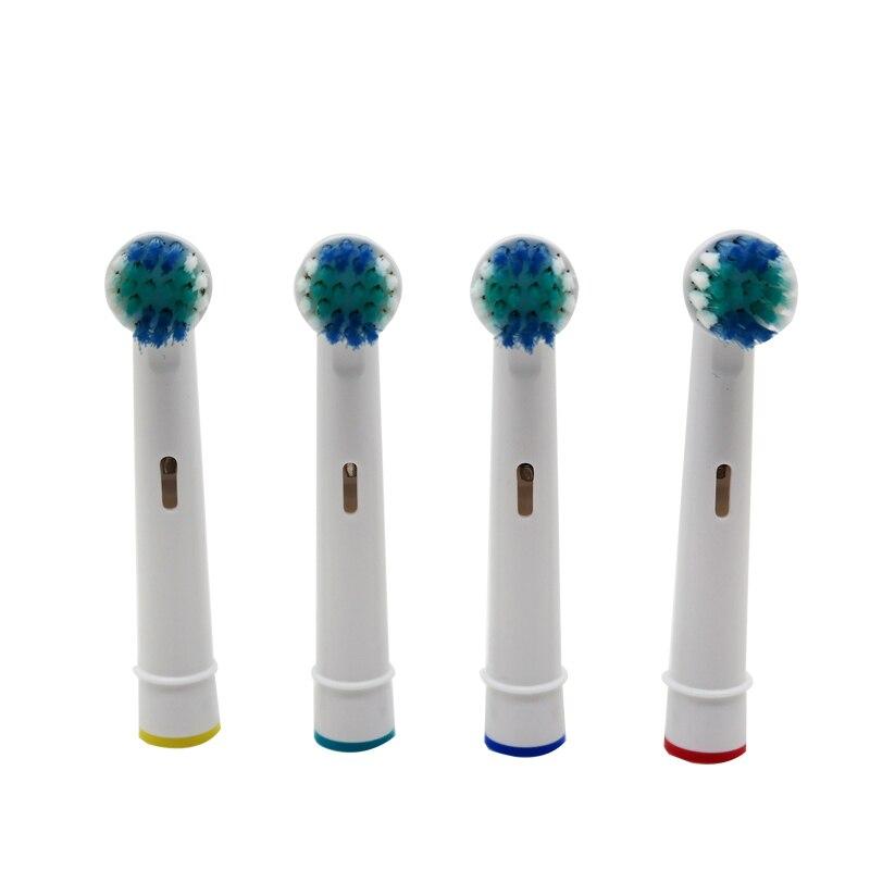 4pcs Higiene Cabeças Escova de Substituição para Oral B Fio Cruz Precisão Duty Free Escovas de Dente Elétricas Cabeças de Cerdas Macias