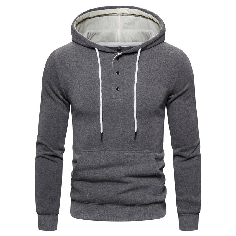 Dropshipping NEGIZBER New Arrive Men's Sweatshirts Fashion Autumn Winter Hoody Hoodies Men Casual Thick Fleece Men's Hoodie