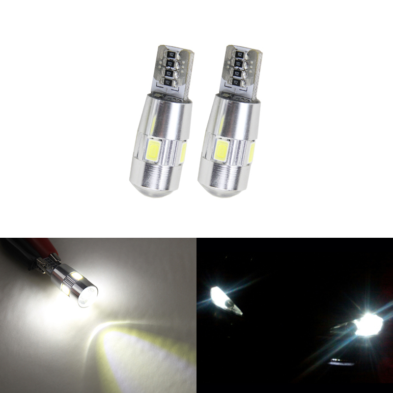 2x T10 W5W Car Projector Led Parking Clearance Lights For Ssangyong Kyron Actyon Sport Korando Rexton Musso Stavic Rodius Tivoli image