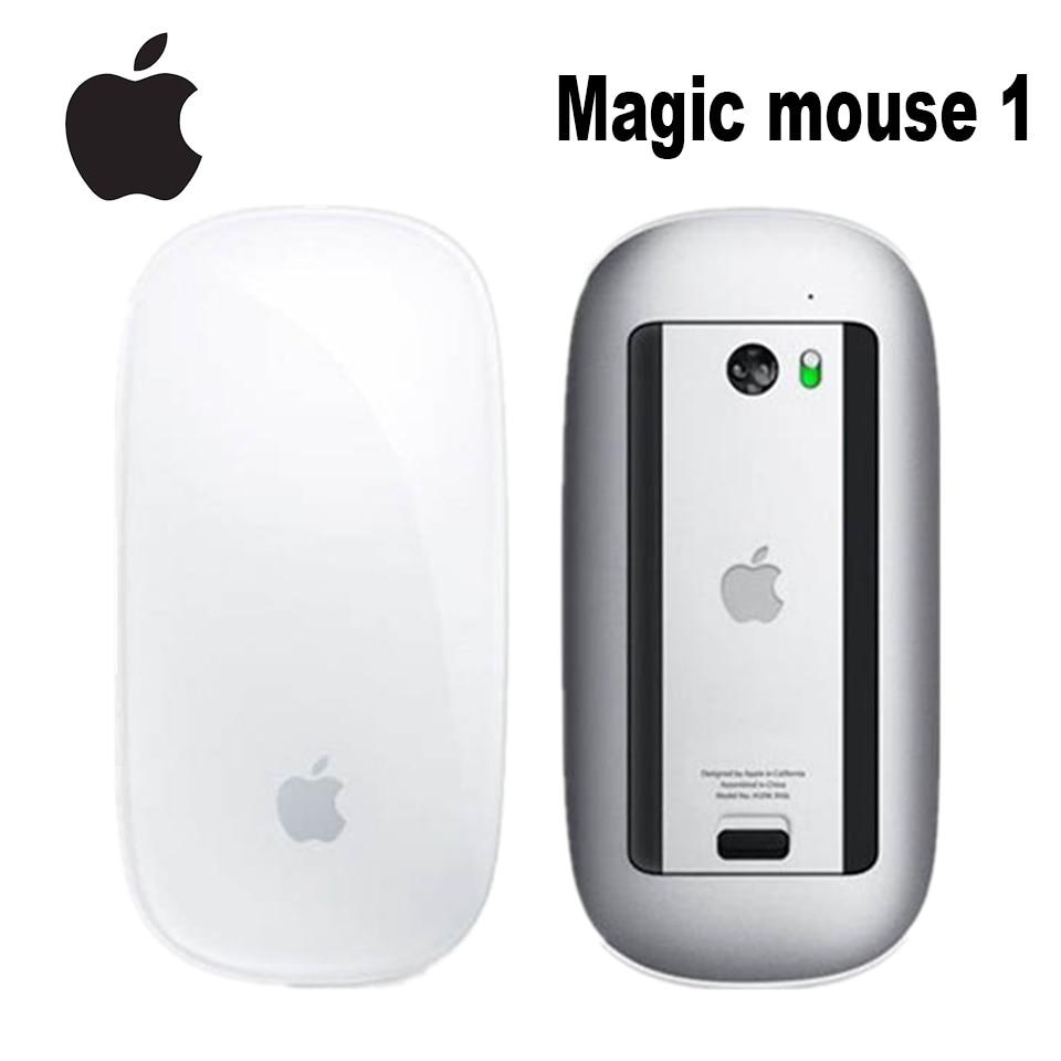 Orijinal Apple Magic Mouse 1 kablosuz bluetooth fare için Macbook Macbook Air Mac Pro ergonomik tasarım akıllı çoklu dokunmatik fare