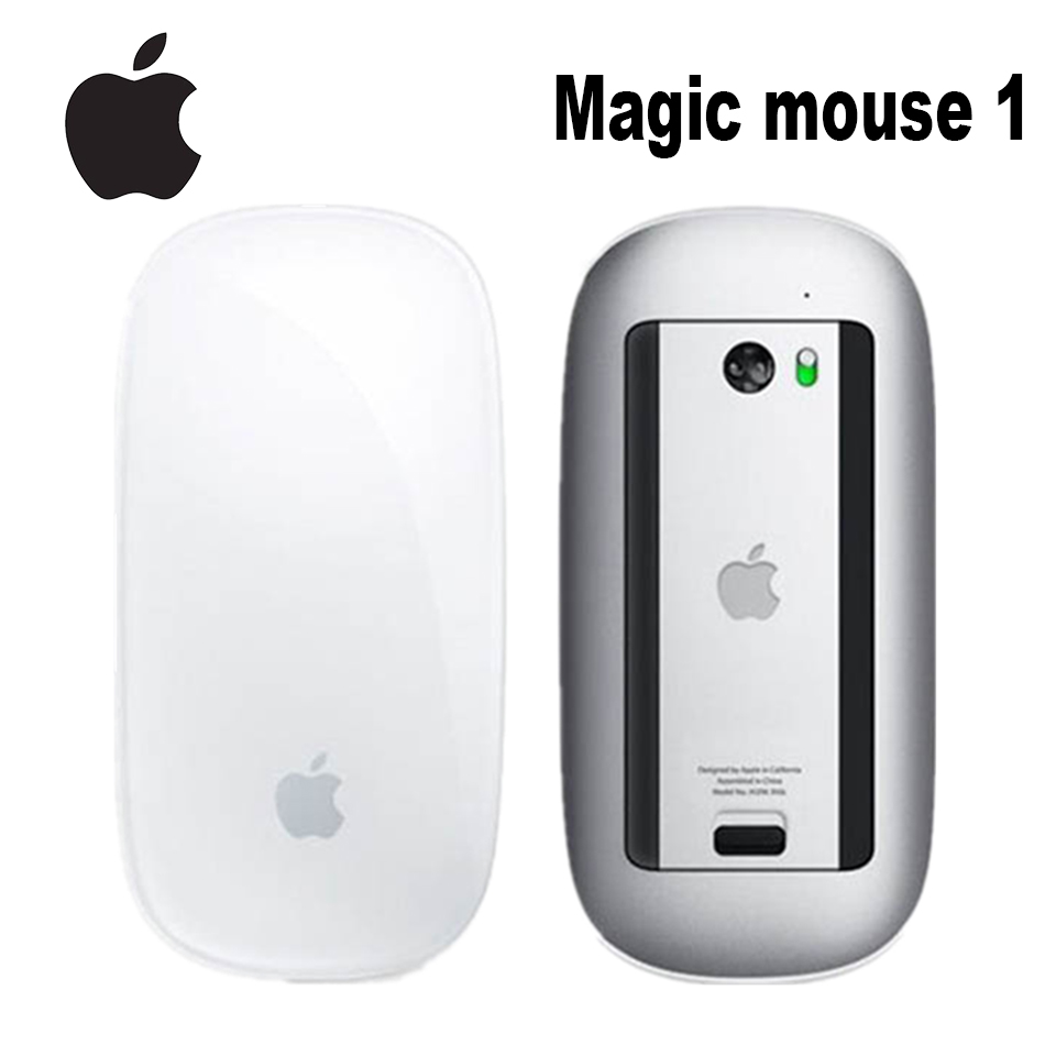 Mouse sem Fio Bluetooth para Mac Original Apple Mouse Mágico Livro Macbook ar Mac Pro Design Ergonômico Inteligente Multi Toque 1 Mod. 1269537