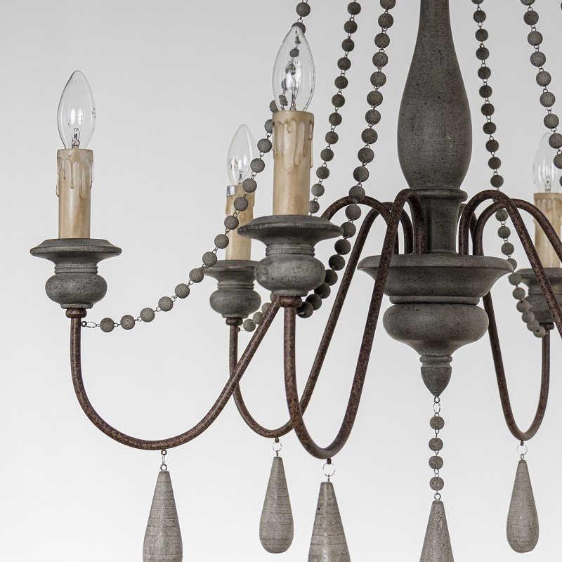 Винтажная деревянная люстра, подвесные люстры для гостиной, спальни, кухни, люстры в стиле ретро, лофт, дерево, домашний декор, осветительные приборы