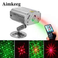 Voice Control Music Rhythm Flash Light DJ Disco Stage Light LED Laser Projector Stage Dancing Party Lights Stage Effect Lighting