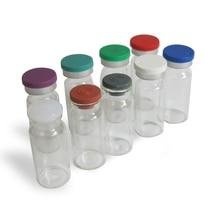 500x10ml 투명 앰버 주입 유리 병 플라스틱 알루미늄 Cap1/3oz 투명 유리 병 10cc 유리 용기
