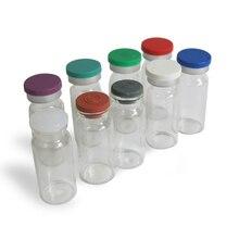 500x10ml ברור הזרקת ענבר זכוכית בקבוקון עם פלסטיק אלומיניום Cap1/3oz שקוף זכוכית בקבוק 10cc זכוכית מכולות