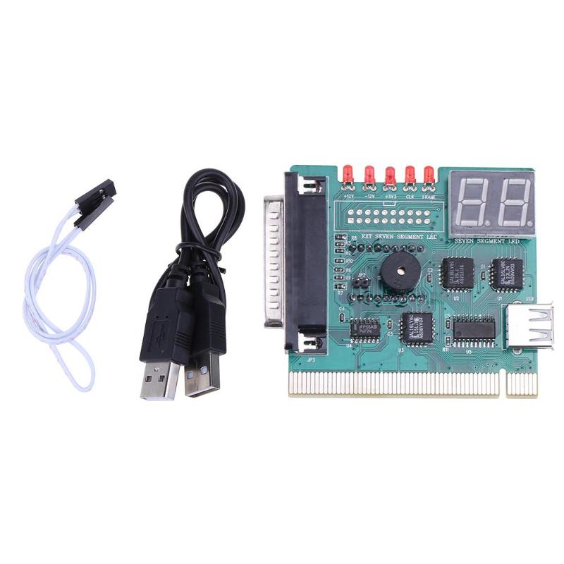 USB PCI PC Motherboard Diagnostic Analyzer POST Card With 2 Digit Error Code Display For Laptop PC Test And Analyze