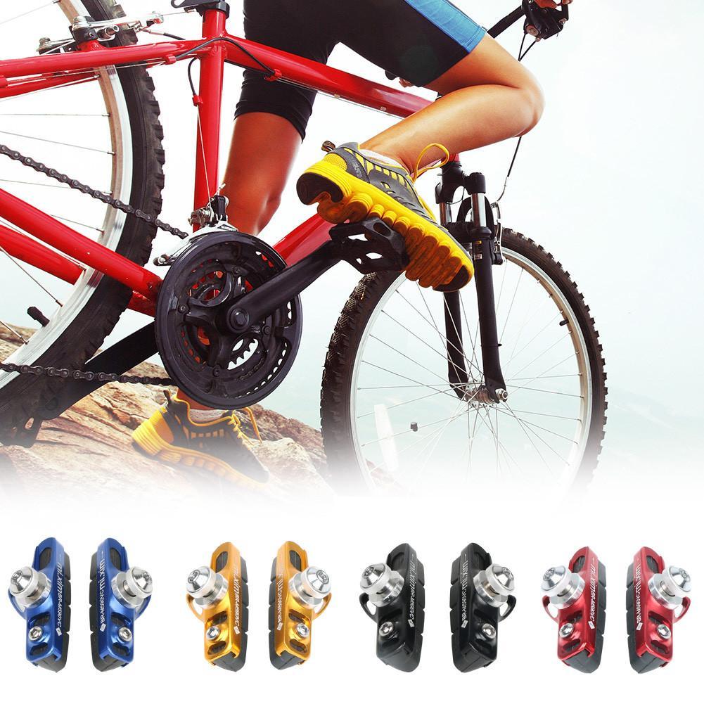 1 Pair Rubber Mountain Bicycle V Brake Pad Shoe V-Brake Holder Blocks Cycling
