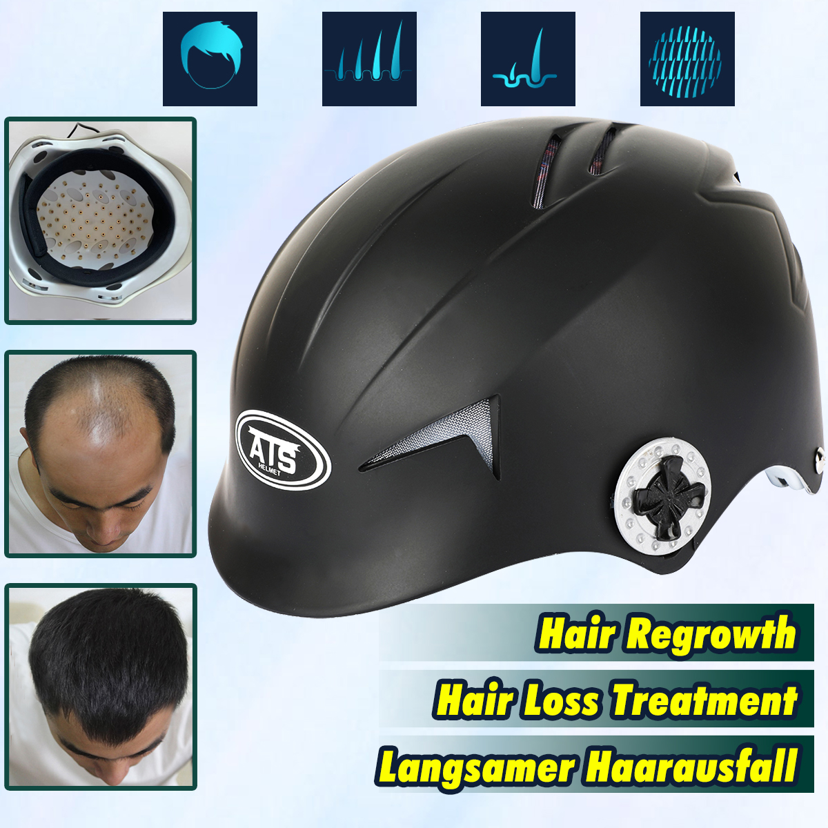 64 /128 Diodes Laser Hair Growth Cap Hair Loss Treatment Hair Regrowth Promoter Regrow Laser Helmet Fast Treatment Hat