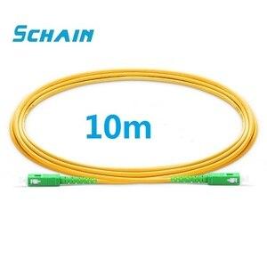 10m fibra optica SC APC Patchcord optical fiber Patch cord PVC G657A Fiber Jumper SM FTTH Optical fiber Cable SC APC connector
