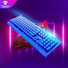 ماشينيكي لوحة مفاتيح الألعاب الميكانيكية K1 الأزرق محور أسود محور براون محور RGB esport الألعاب لوحة المفاتيح دفتر كمبيوتر محمول