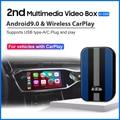 MMB мультимедийный Carplay Ai Box 4 + 32G Android 9 система беспроводной зеркальный видеоплеер iPhone Android телефон навигация радио коробка