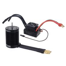 Waterproof F540 3300KV 4370KV Brushless Motor w/ 60A ESC for Traxxas Axial Redcat HSP 1/10 RC Truck Monster Buggy Off-road Car rc f540 4370kv 3300kv waterproof sensorless brushless motor and 60a brushless esc combo set for 1 10 rc racing car boat model