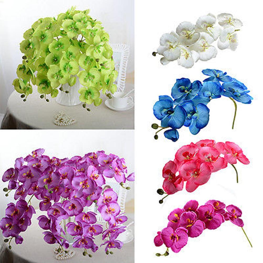 Сделайте вашу свадьбу яркой искусственной искусственный цветок из шелка фаленопсис; Бабочки; Орхидеи милых накладные цветной букет Искусс...