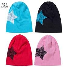 Cotton Hat Autumn Baby Beanie-Cap Star-Hat Knitted Girls Winter Boys Kids Warm Big Soft