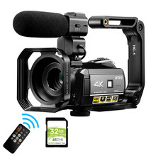 4K Nachtzicht Video Camera Professionele Camcorders Ordro AC3 Wifi Digitale Zoom Vlog Camera 'S Voor Youtube Blogger