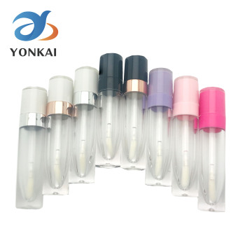 wholesale 100pcs 50ml aluminum empty toothpaste tubes w needle cap unsealed 10/30/50/100PCS 5ML ABS Lip Gloss Tubes Empty Plastic Lipgloss container With wand White Cap Lip glaze Cosmetic packing bottle