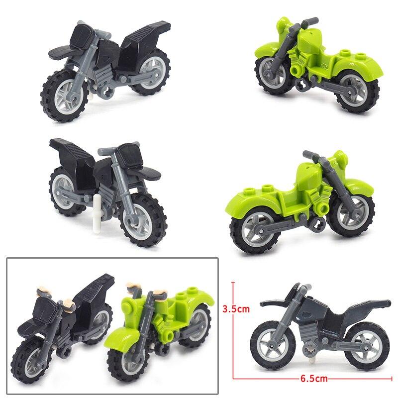 Купить с кэшбэком Military Motorcycle 2 Rounds Building Blocks Suv Figures Equipment World War 2 Legion Car Moc Child Christmas Birthday Gift Toys