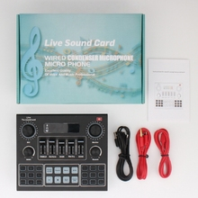 V9 Bluetooth Sound Card USB Headset Microphone Webcast Live Streaming Sound Card Phone Computer Singing Sound Card
