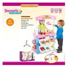 Мороженое супермаркет упакованный комбинированный заряженный сканер игровой дом игрушки девушки игрушка родитель и ребенок интерактивные образовательные