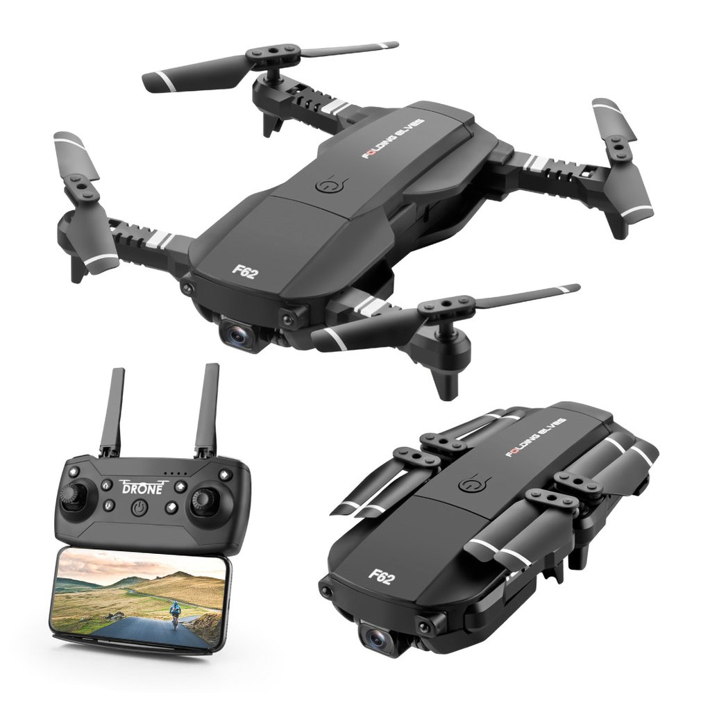 F62 RC drone 2.4G WIFI 0.3MP/4K 16MP HD Wide Angle Camera RC Drone Optical Flow Gesture Control Follow RC Aircraft quadcopter