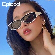 Epicool Sunglasses Women Bump Sunglasses Retro Classic Sun glasses Punk Style Resin Oval Frame Mirror Sunglasses oculos