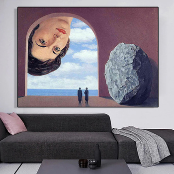 Portrait of Stephy Langui by Rene Magritte Printed on Canvas 1