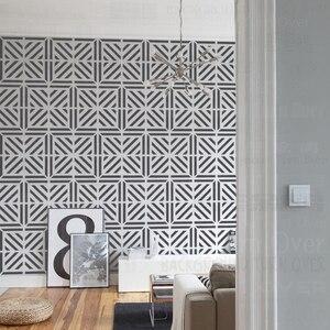 Трафареты 40 см 70 см трафареты для стен большой рисунок большой шаблон многоразовый Декор Мандала напольное украшение геометрический квадр...