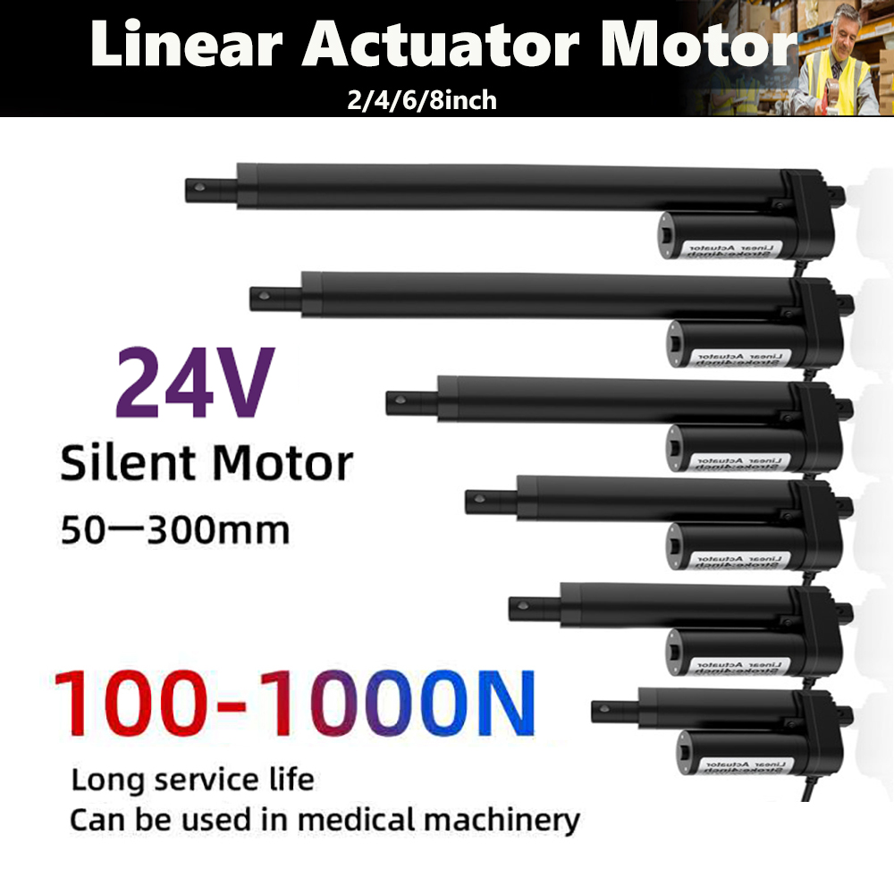 Linear Actuator 24V Electric Motor DC Motor Linear Drive Motor Electrico Moving Stroke <font><b>2</b></font> Inch 4 Inch 6 Inch 8 Inch <font><b>10</b></font> Inch image