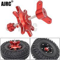 AJRC-montaje de neumáticos metálicos, herramienta de ayuda de desmontaje para coche trepador de control remoto 1/10 1,9 pulgadas, rueda Beadlock, negro/rojo