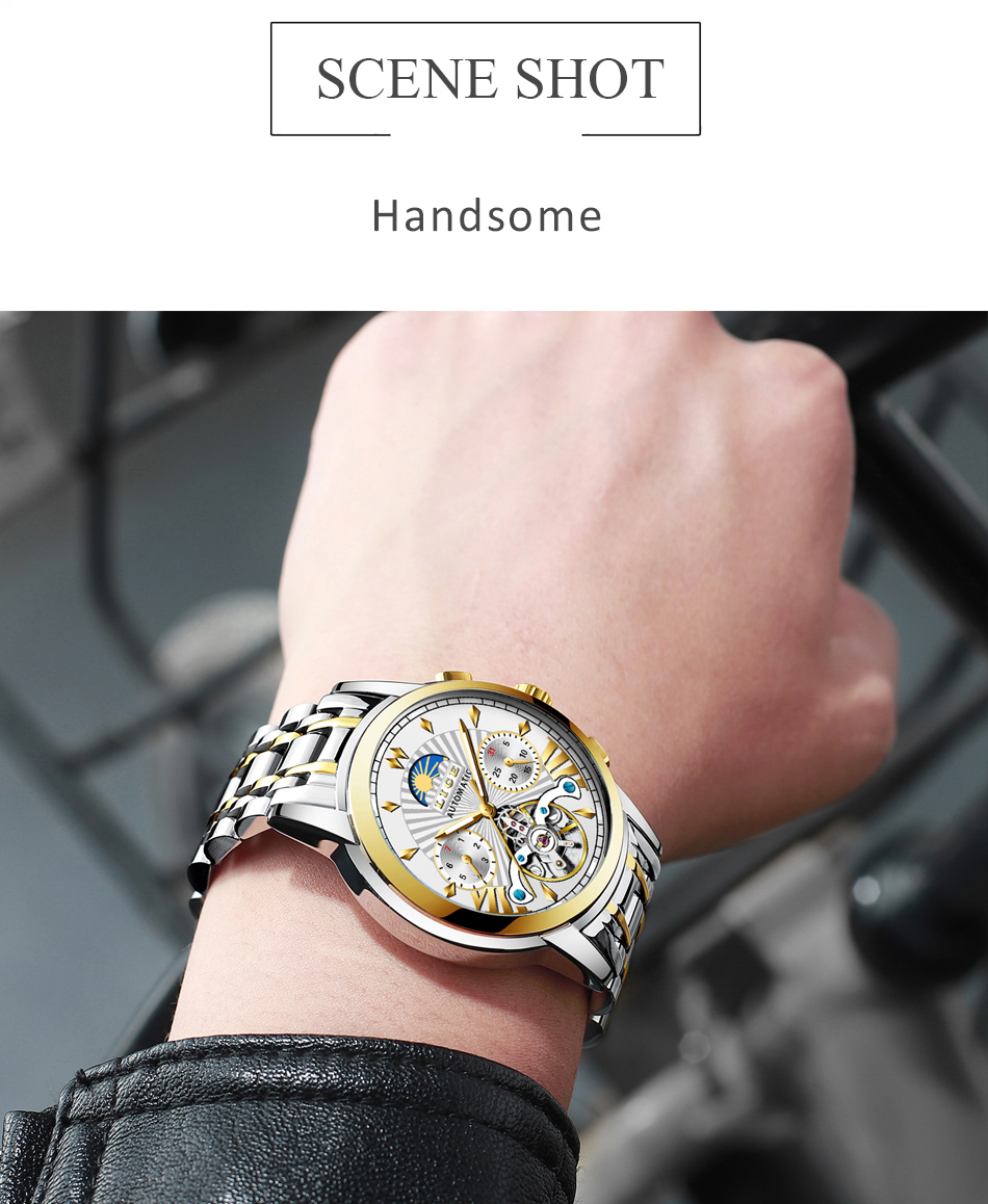 LIGE Official Store Mens Watches Top Brand Luxury Automatic Mechanical Business Clock Gold Watch Men Reloj Mecanico de Hombres Hef20f9f042a243449941d5a2e1d0e546X