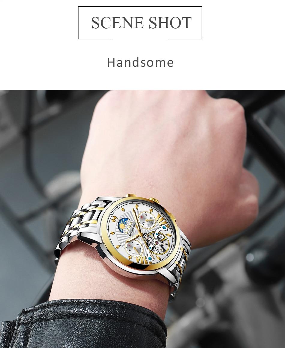 Hef20f9f042a243449941d5a2e1d0e546X LIGE Official Store Mens Watches Top Brand Luxury Automatic Mechanical Business Clock Gold Watch Men Reloj Mecanico de Hombres