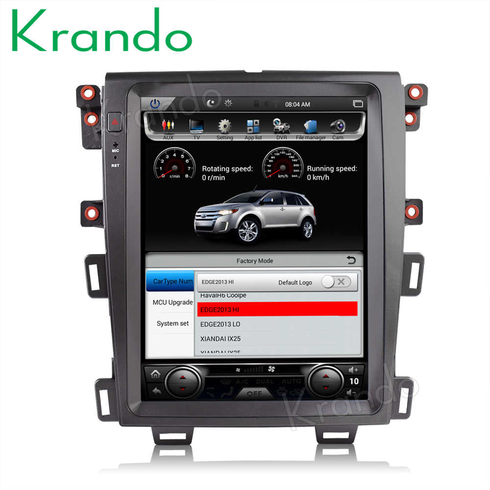 "Krando Auto Radio Gps Voor Ford Edge 2009-2014 Android 8.1 4G 64G 12.1 ""Tesla Verticale screen Auto Gps Navigatie Multimedia Systeem"