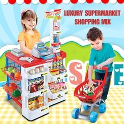 Kasse Multifunktionale Simulation Supermarkt Kombination Warenkorb eltern-kind-Interaktives Spielzeug spielzeug kinder
