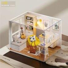 Деревянный Кукольный дом мебель миниатюрные 3d миниатюры кукольный