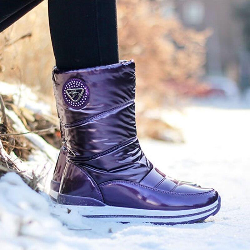 High quality women boots 2019 new arrivals waterproof thick fur winter shoes slip-resistant women platform snow boots