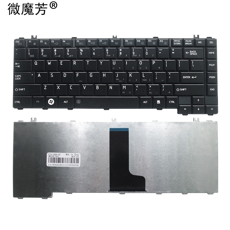 NEW English FOR Toshiba For Satellite C600D L640 L600 L600D L630 C640 C645 L700 L640 L730 L635 Laptop Keyboard US