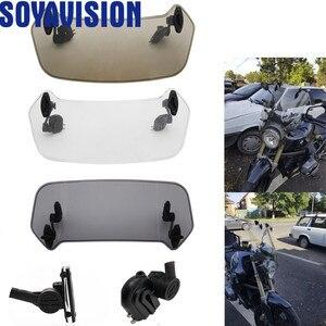 Image 5 - Parabrisas Universal ajustable para motocicleta, alerón de parabrisas, Deflector de aire para Honda BMW F800 R1200GS KAWASAKI YAMAHA
