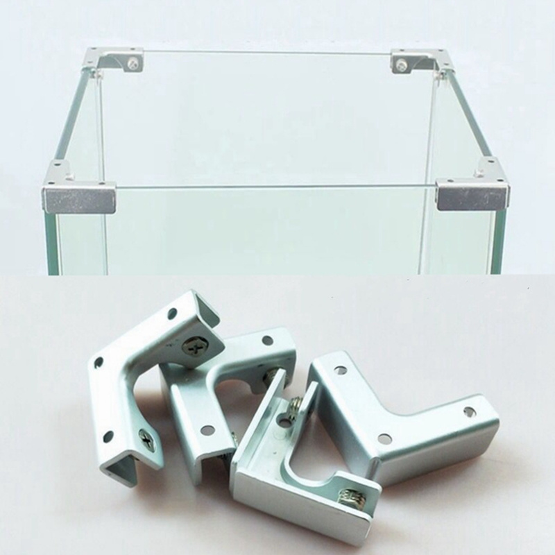 L T Cross Type Right Angle Fixed Clip Cabinet Combination Connecting Piece Fish Tank Glass Fixed For 6-12mm Furniture Hardware