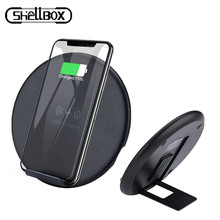 Shelbox 10W Fast Wireless Charger For Samsung Galaxy S10 S9 S9+ S8 Note 9 USB Qi Charging Pad for iPhone 11 XS Max XR X 7 8 Plus