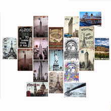 Liberty Goddess Paris Tower Famous Building Sign Metal Plaques Modern Home Decor liberty home диван chineo